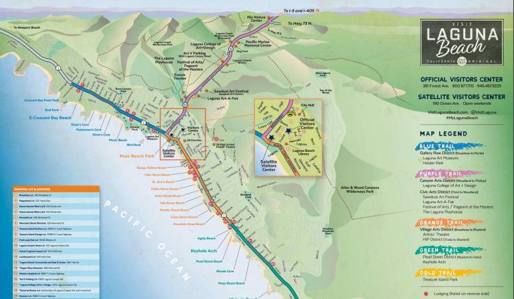 Laguna Beach Maps And Directions Visit Laguna Beach