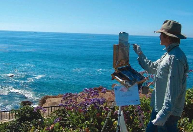 Painting on a cliffside