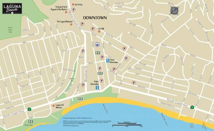 Map Of Laguna Beach Laguna Beach Maps and Directions   Visit Laguna Beach Map Of Laguna Beach